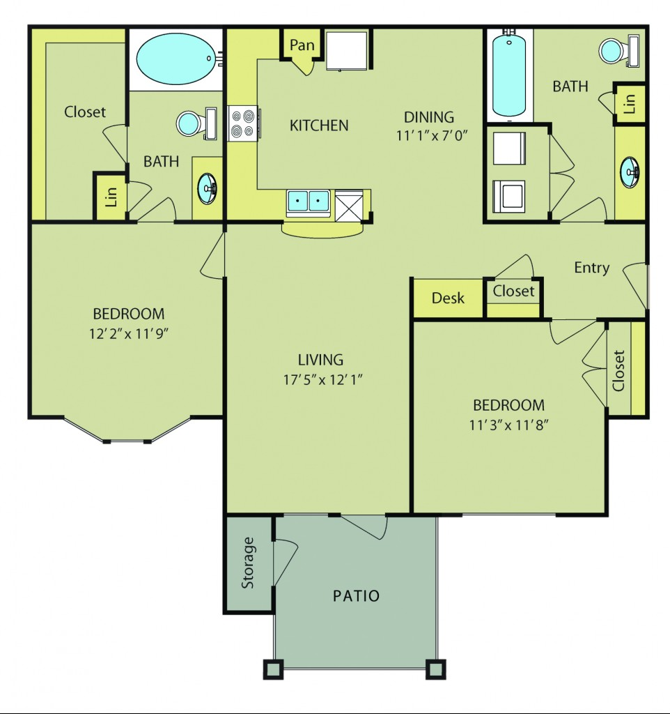 Two Bedroom Apartments in San Antonio