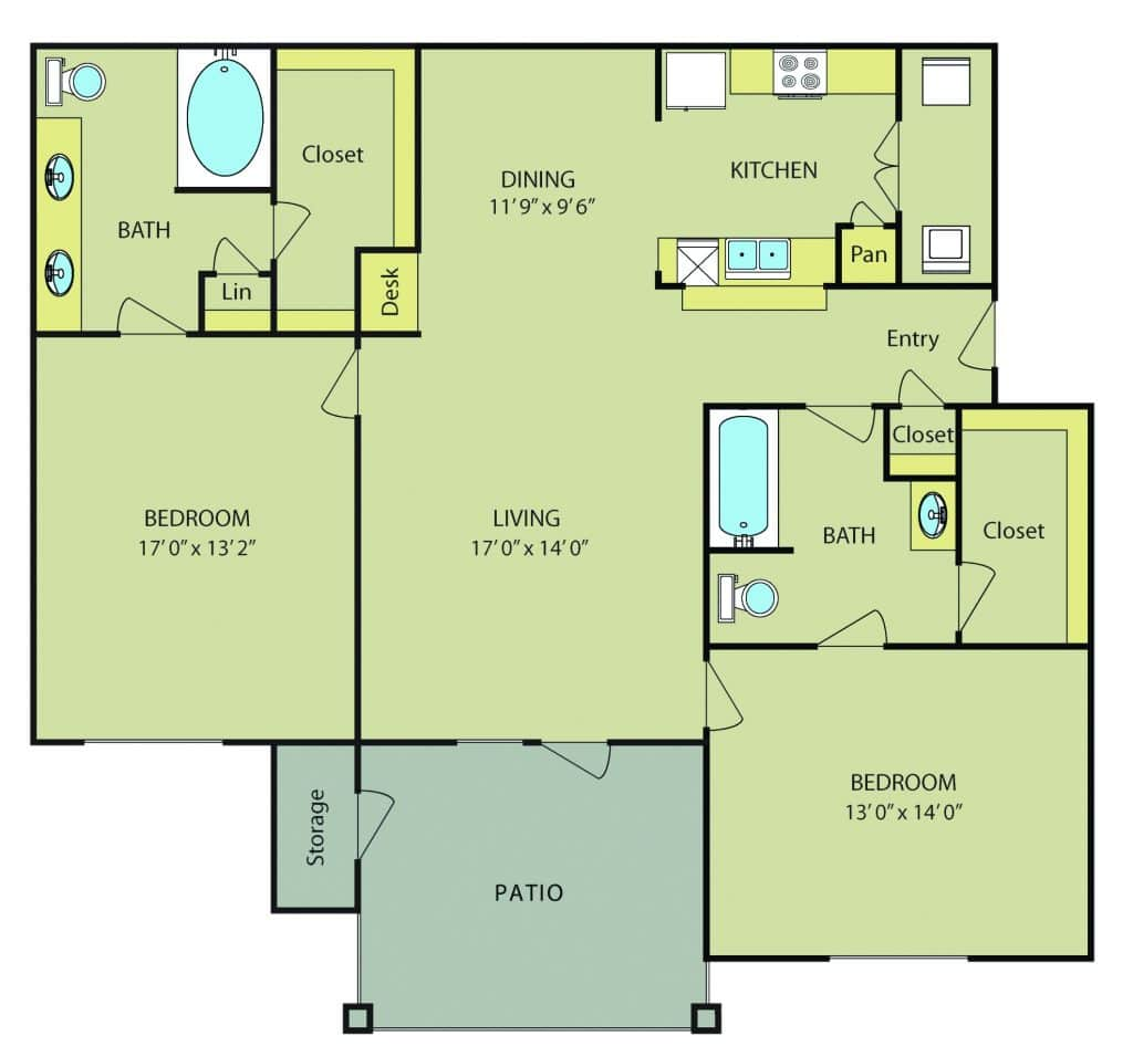 Our two bedroom apartments in san antonio