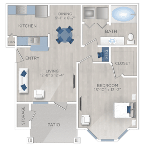 One Bedroom Apartment The Woodlands Texas