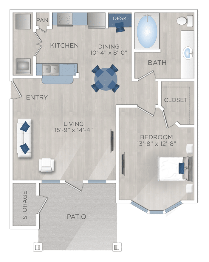 One Bedroom ApartmentWoodlands TX
