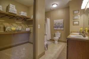 1 Bedroom Apartments For Rent in San Antonio, TX - Model Bathroom