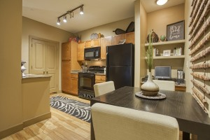 2 Bedroom Apartments For Rent in San Antonio, TX - Model Dining & Kitchen Area