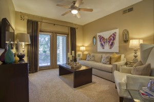 2 Bedroom Apartments For Rent in San Antonio, TX - Model Living Room
